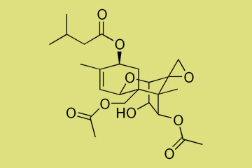 Estructura molecular de la micotoxina T2